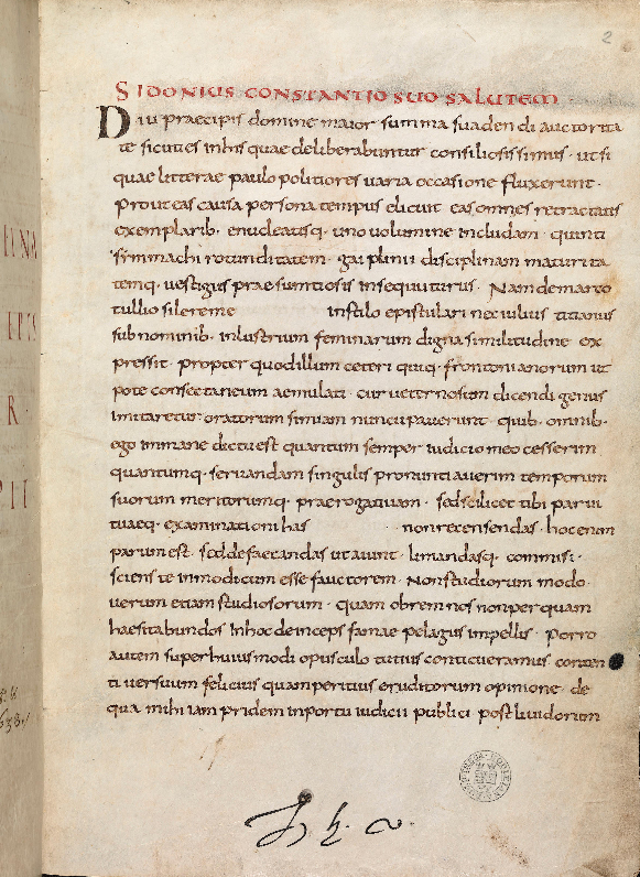 Oxford Laud. Lat. 104 f. 2r